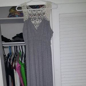 NWOT, maxi with lace back